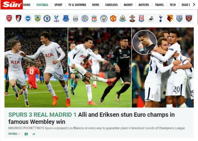 """Real """"tan nát"""" trước Tottenham: Báo Anh ngây ngất, an ủi Ronaldo - 6"""