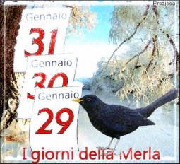 Giorni della Merla: 29-30-31 Gennaio