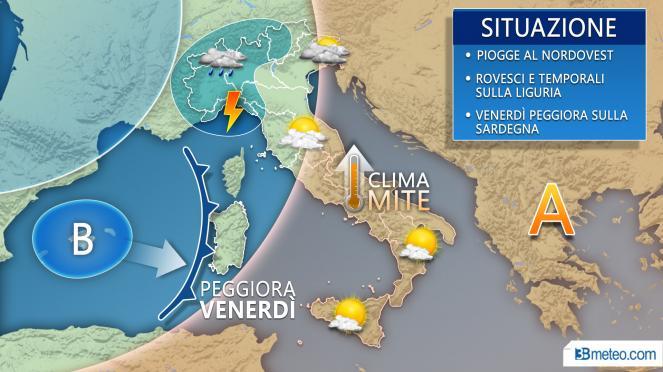 Meteo Italia: situazione prevista per le prossime 48 ore