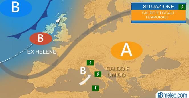 Meteo Italia: tra caldo anomalo e improvvisi temporali