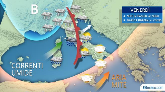 Meteo Italia: venerdì nuova e più intensa perturbazione