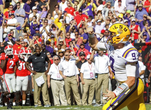Ed Orgeron on win over No. 2 Georgia   We want to lead LSU to a  championship  2e5f684ac