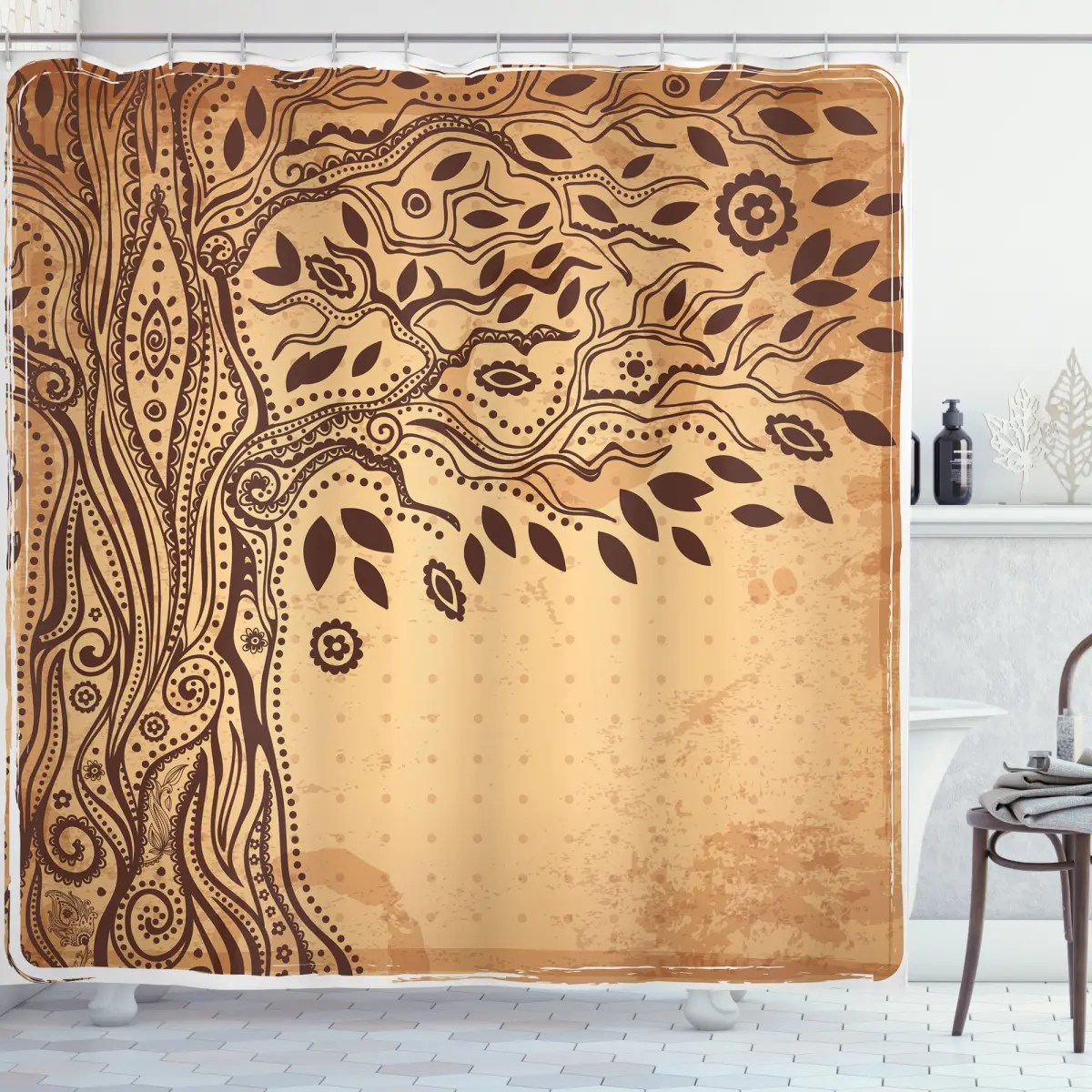 tree of life tribal shower curtain