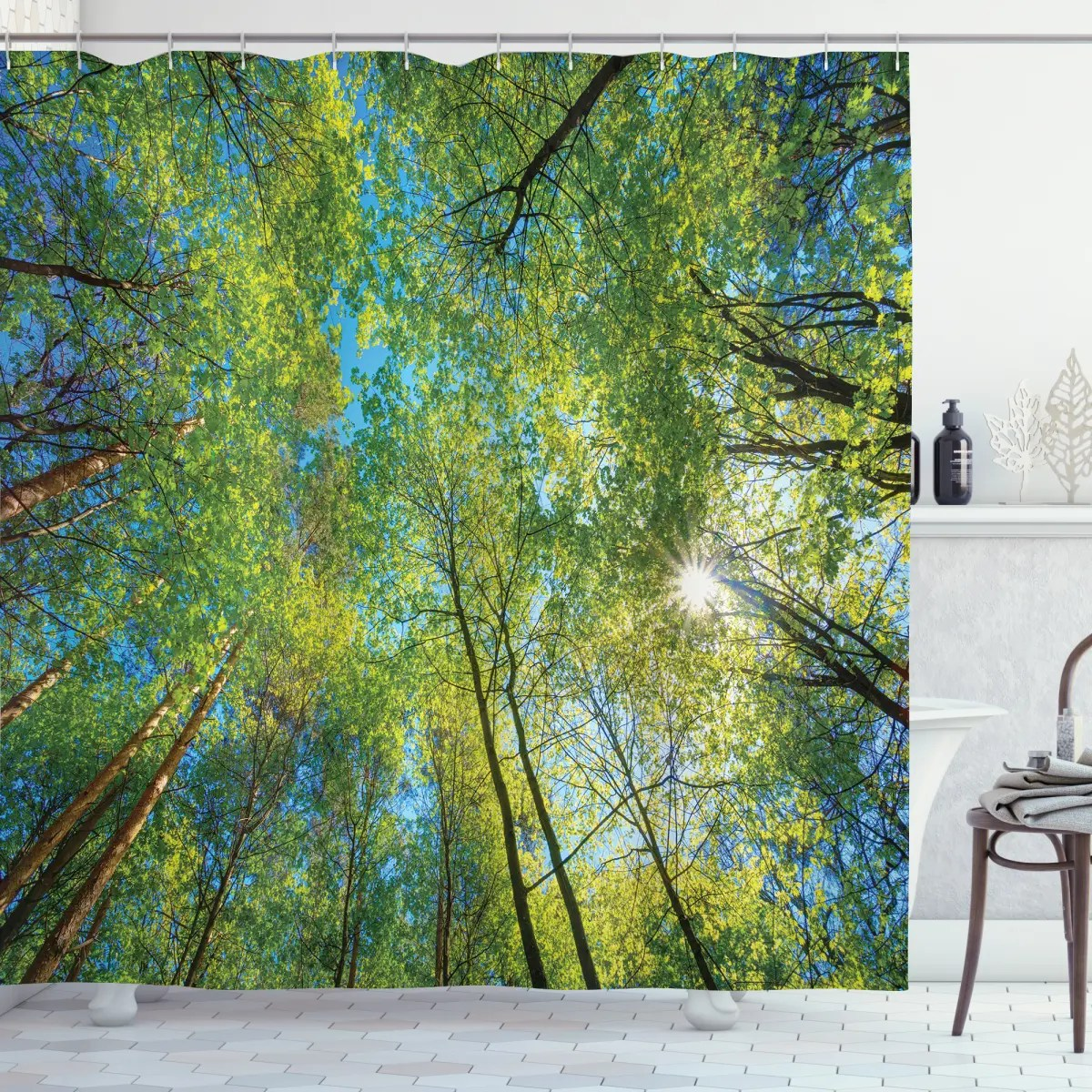 willow flora in nature shower curtain
