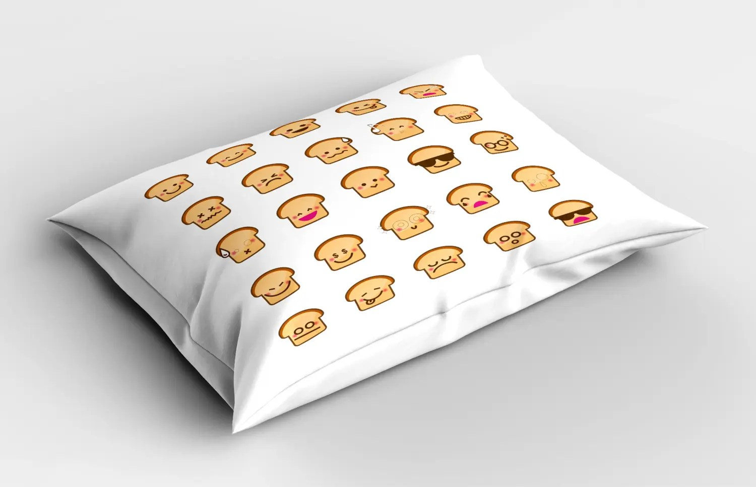 Cartoon Emoji Pillow Sham Decorative Pillowcase 3 Sizes