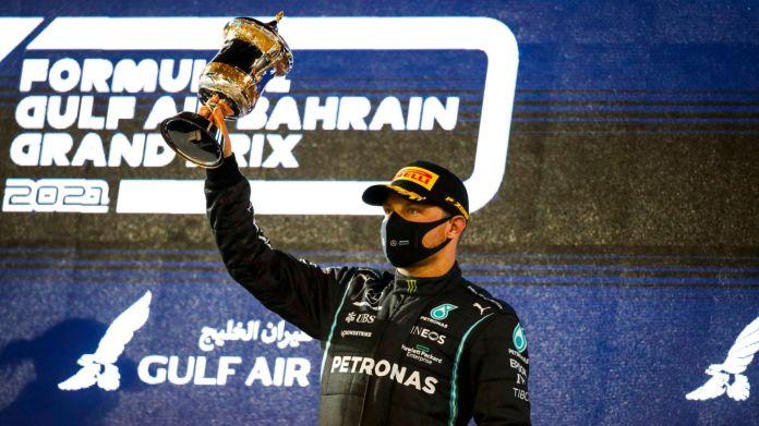 Valtteri Bottas took third place in Bahrain but has eyes on Lewis Hamilton's Formula 1 title