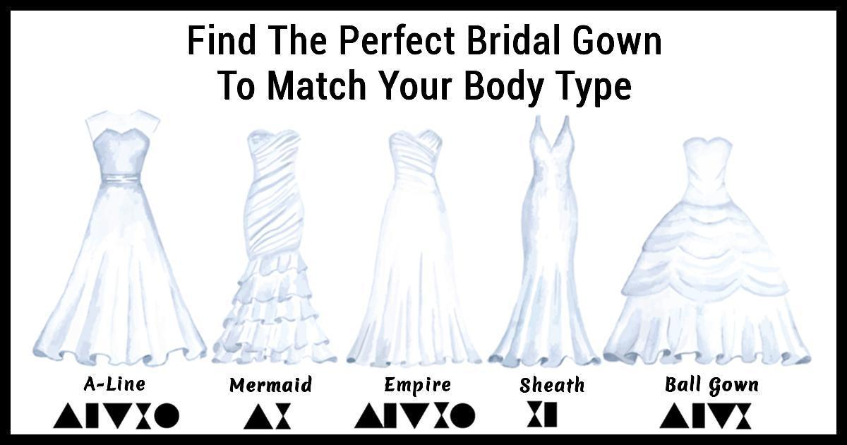 The Perfect Wedding Dress For Every Woman's Body Type