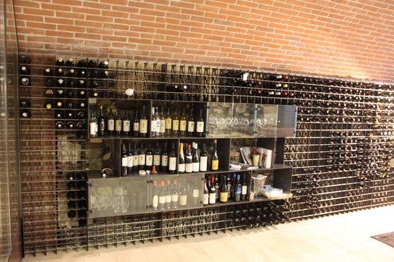 steel wine rack esigo 2 net by esigo