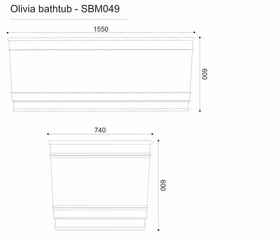 OLIVIA DADOQUARTZ BATHTUB Bathtubs From DADObaths