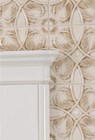 vine relief glazed ceramic tile