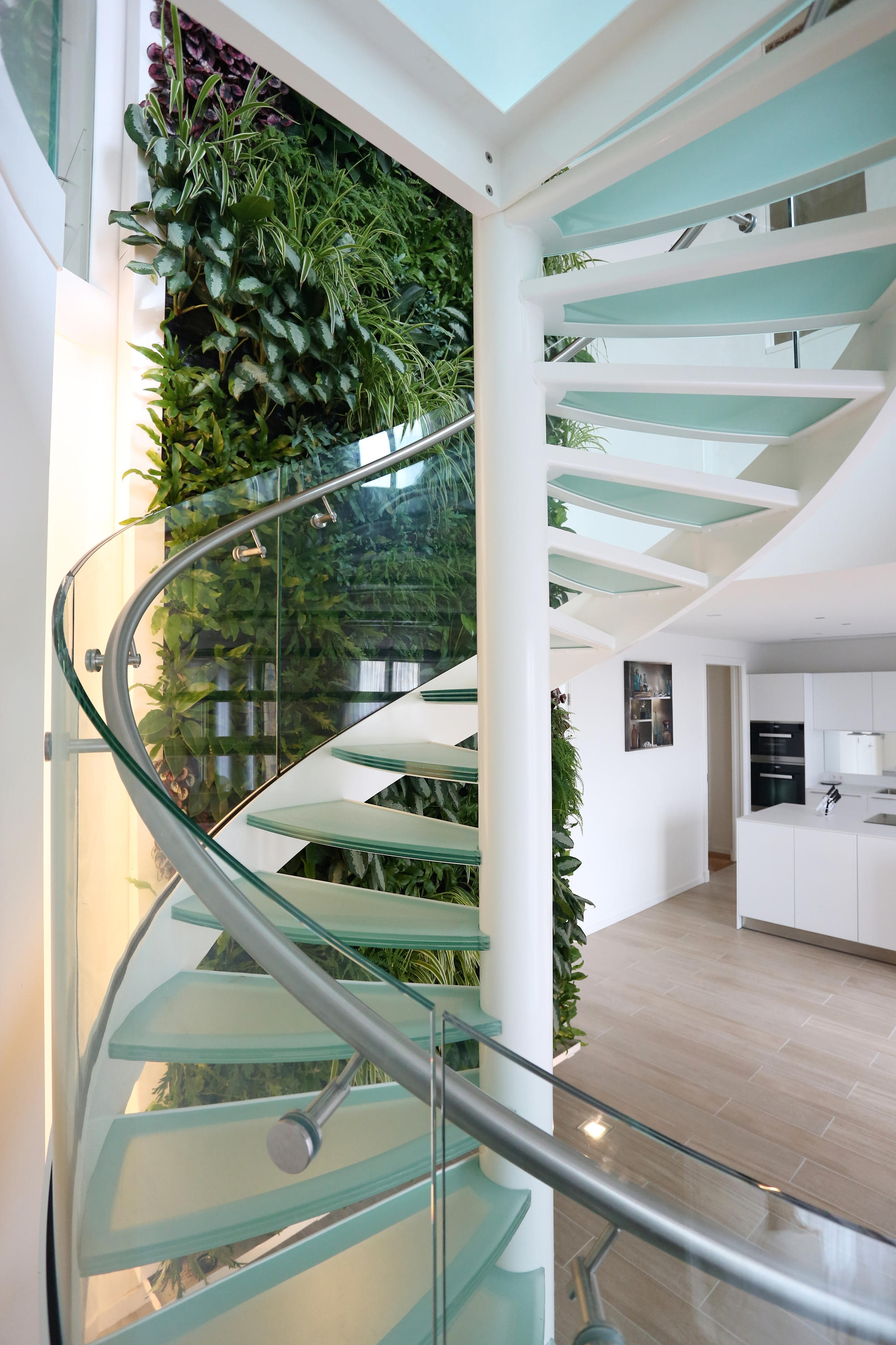 Spiral Stairs Glass Tse 636 Architonic | Spiral Staircase With Glass Railing | Exterior | In India Staircase | Stair Wood Bracket | Glass Insert | Inside Glass