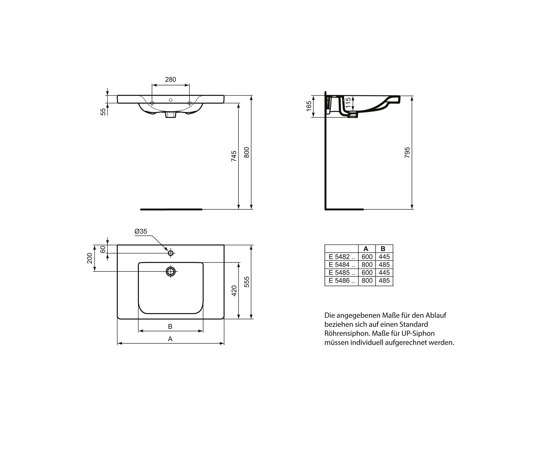Connect Freedom Waschtisch Unterfahrbar 600mm