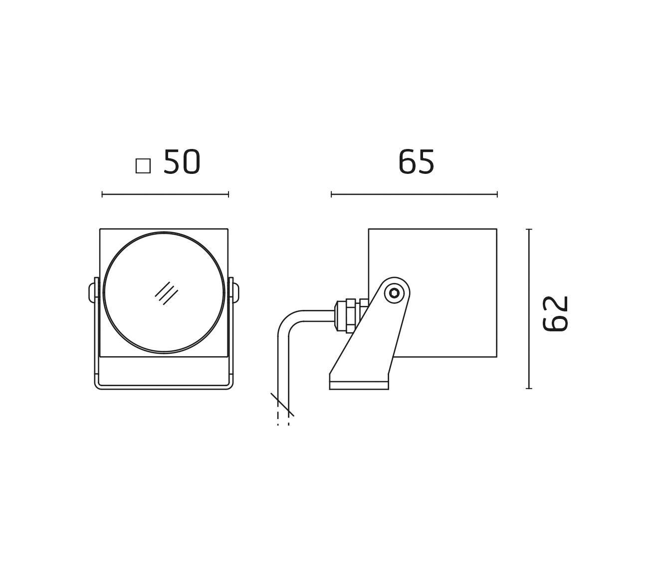 Pi Power Led 50x50mm