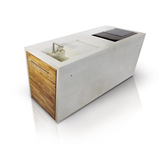 the concrete | outdoor kitchen - modular kitchens from dade design