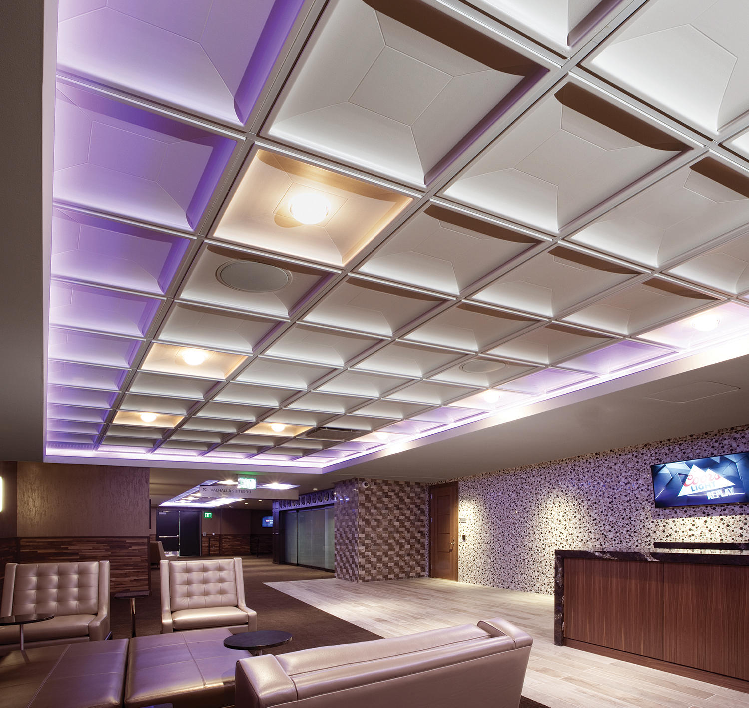 Contemporary Coffer Ceiling Tile