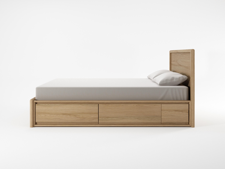 Circa17 King Size Bed Solid Headboard