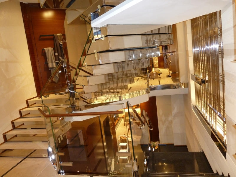 Polished Stainless Steel Stairs Architonic | Stainless Steel Staircase Designs | Grill | Ultra Modern Stair Grill | Affordable | Glass | Solid Steel