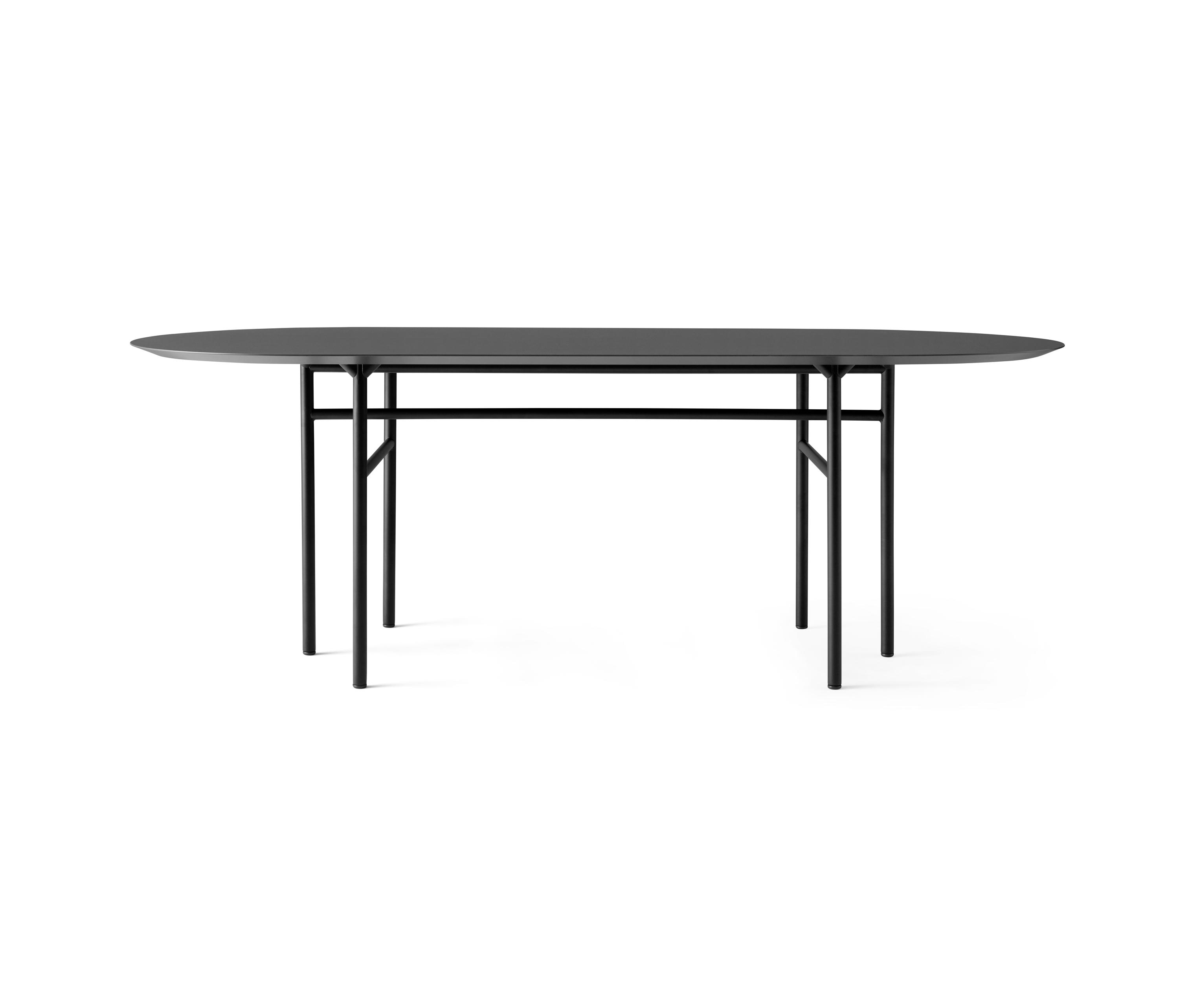 Snaregade Dining Table Oval Black Charcoal