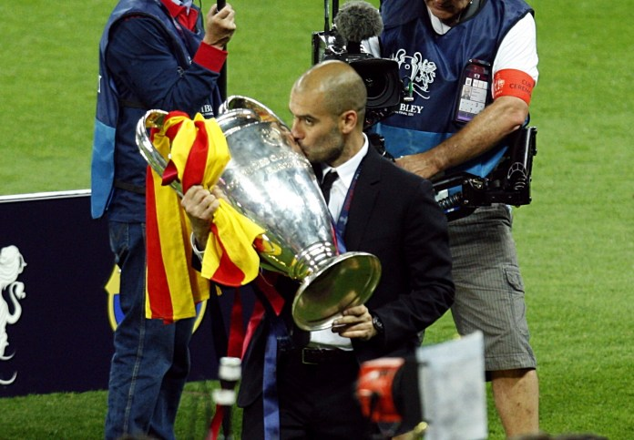 Guardiola, with Messi in his side, won the Champions League twice at Barcelona