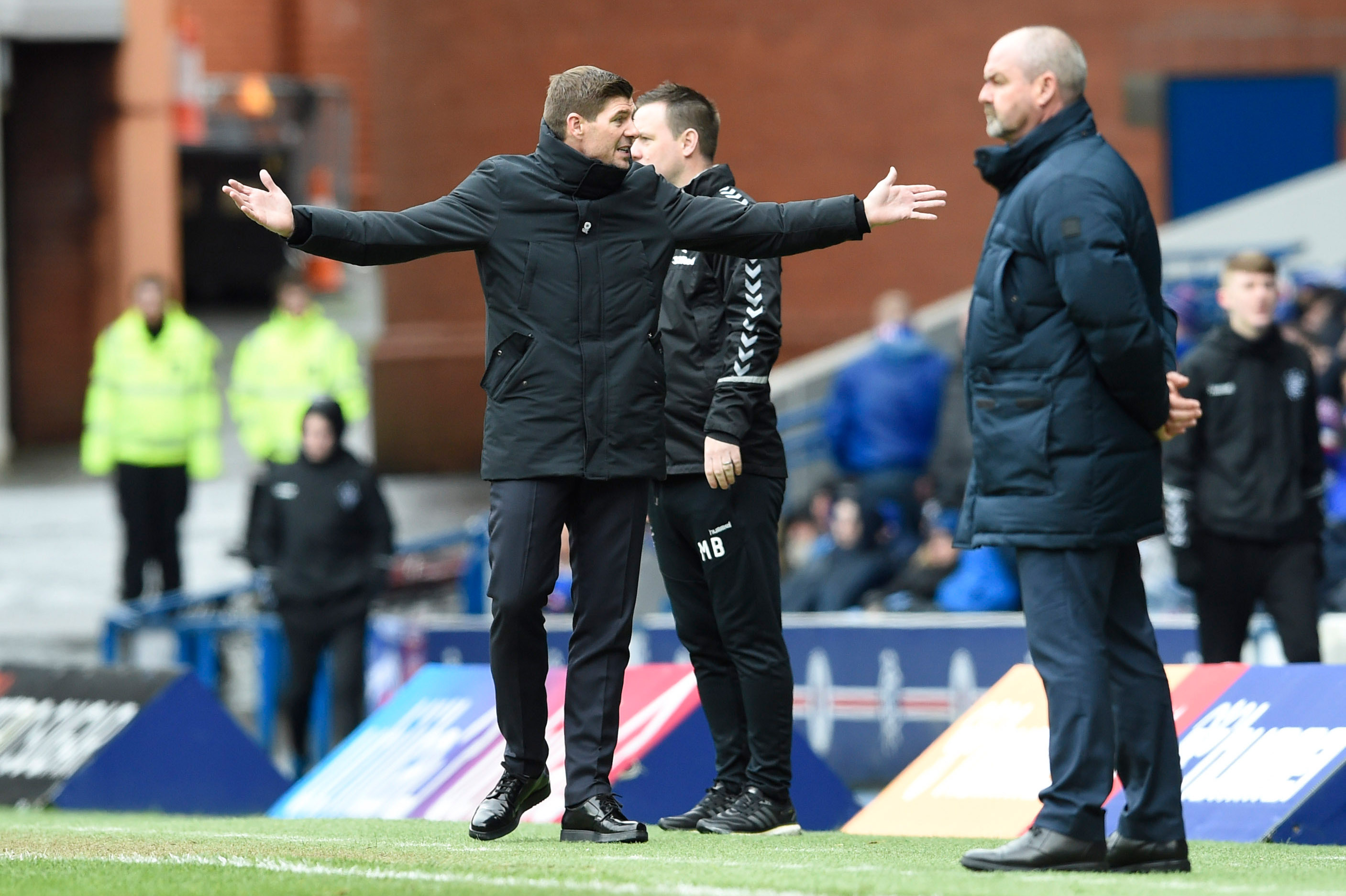 Steven Gerrard was unhappy with th3e response to Kilmarnock's tactics