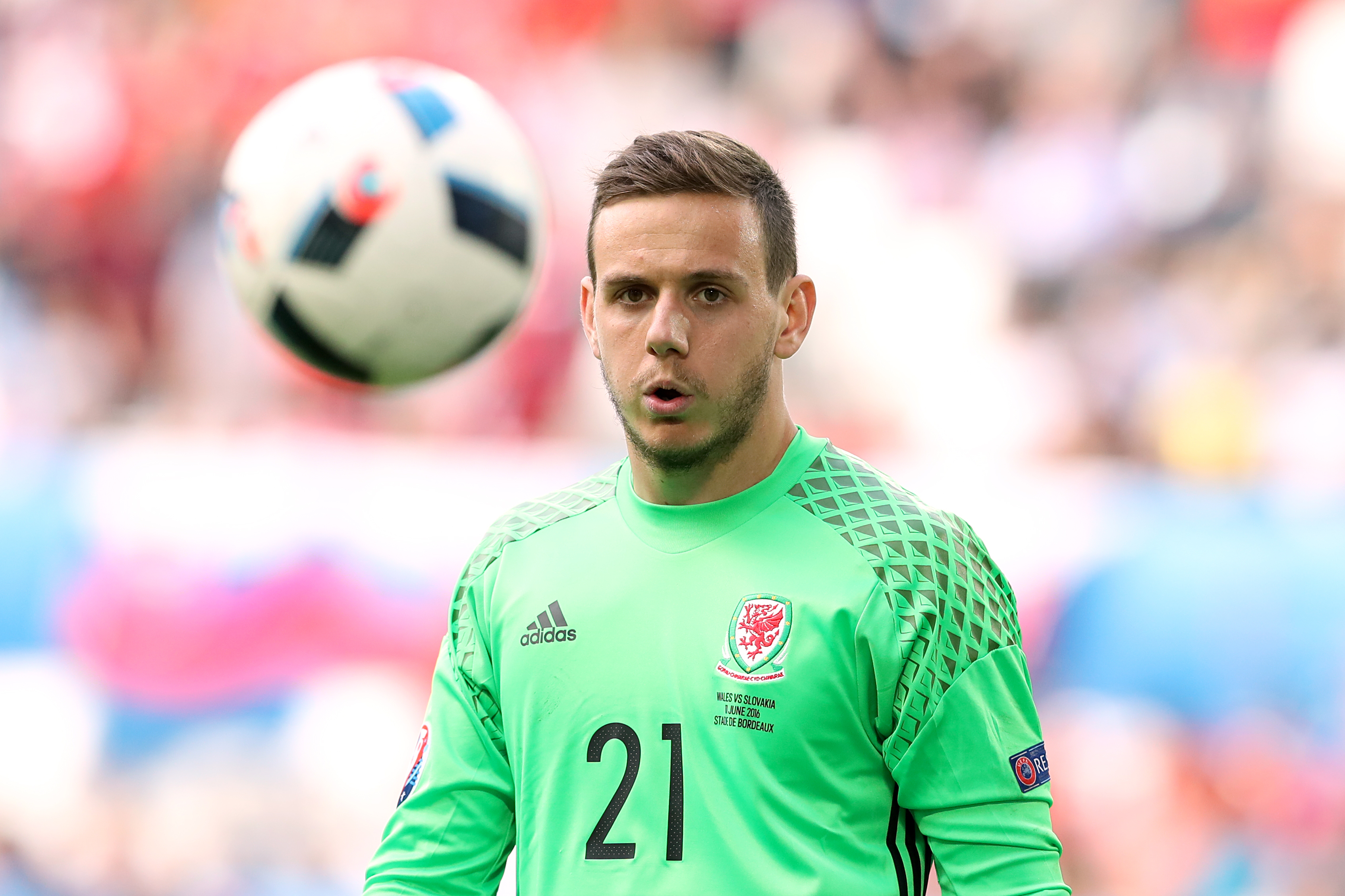 Danny Ward played for Wales at Euro 2016.