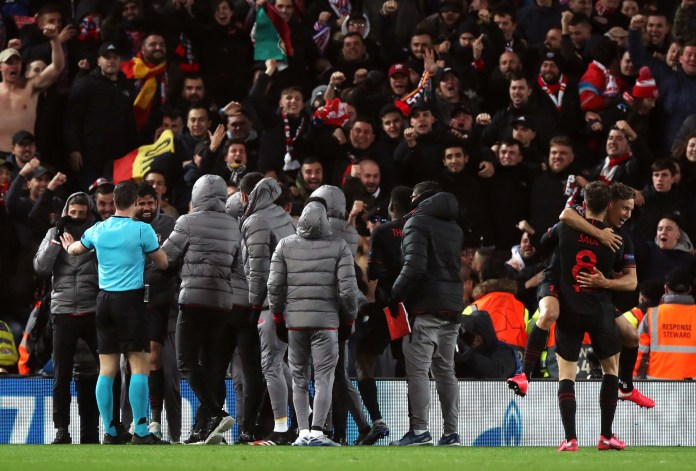 Atletico Madrid knocked out Liverpool at the last-16 stage last season at Anfield