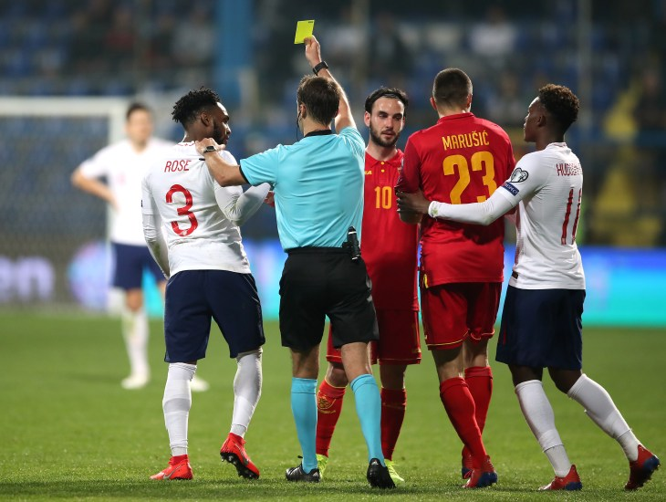 Danny Rose, left, has voiced his frustration after being racially abused in Montenegro