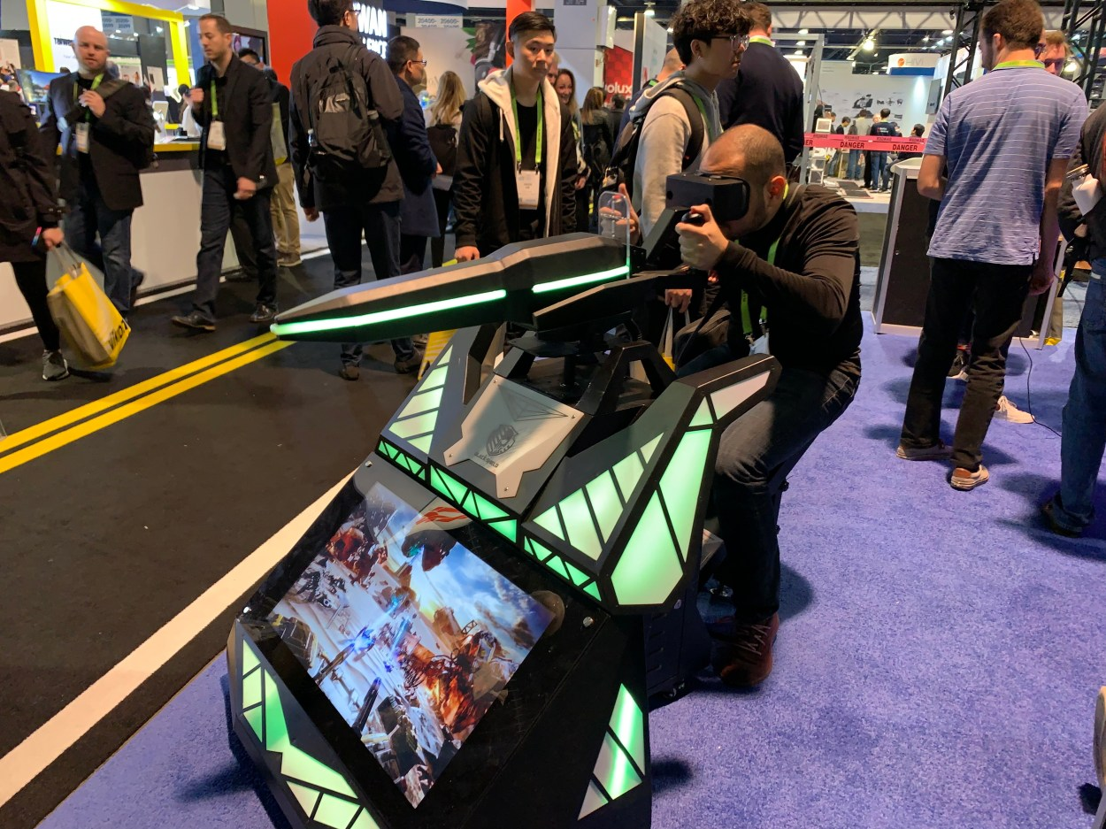 Scorpion, a mounted machine gun with 3D gaming experience