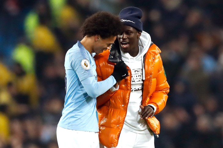 Benjamin Mendy, right, has been sidelined for long spells of the season