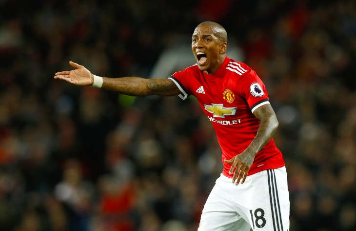 Ashley Young perhaps was given the benefit of the doubt against Newcastle (Martin Rickett/PA)