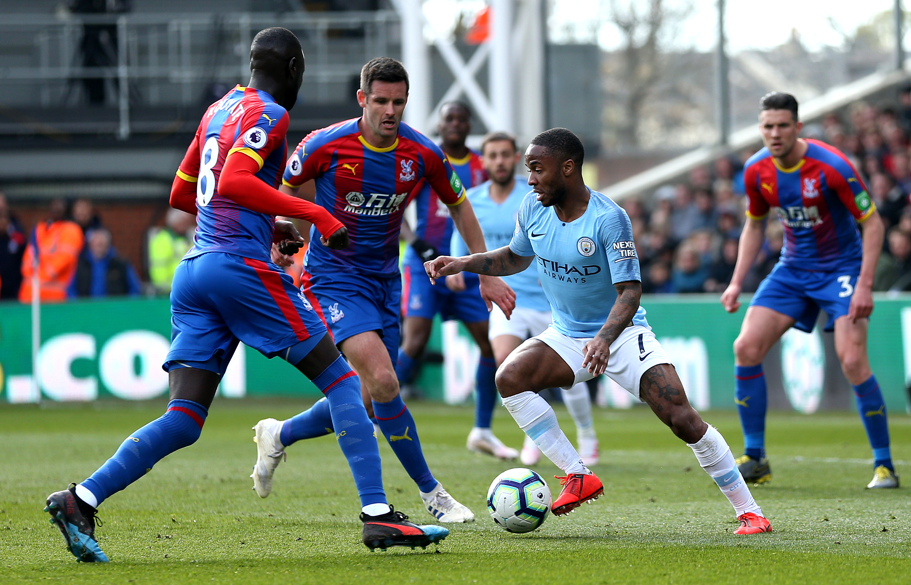 Raheem Sterling scored twice for Manchester City at Palace