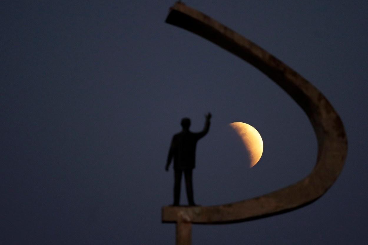 Brazil Partial Lunar Eclipse