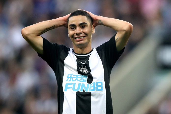 Miguel Almiron could not make a breakthrough for Newcastle