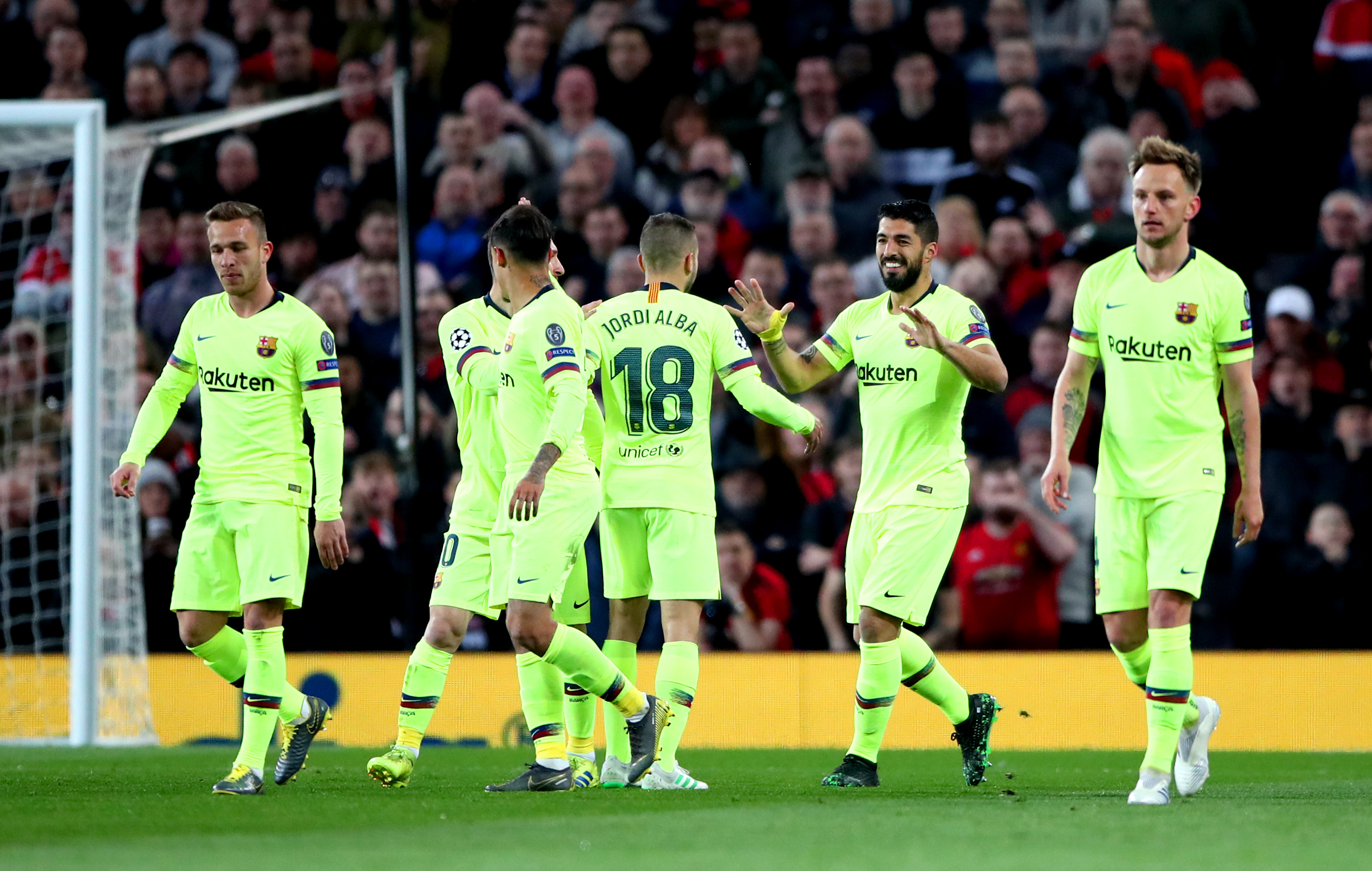 Barcelona had a win to celebrate at Old Trafford
