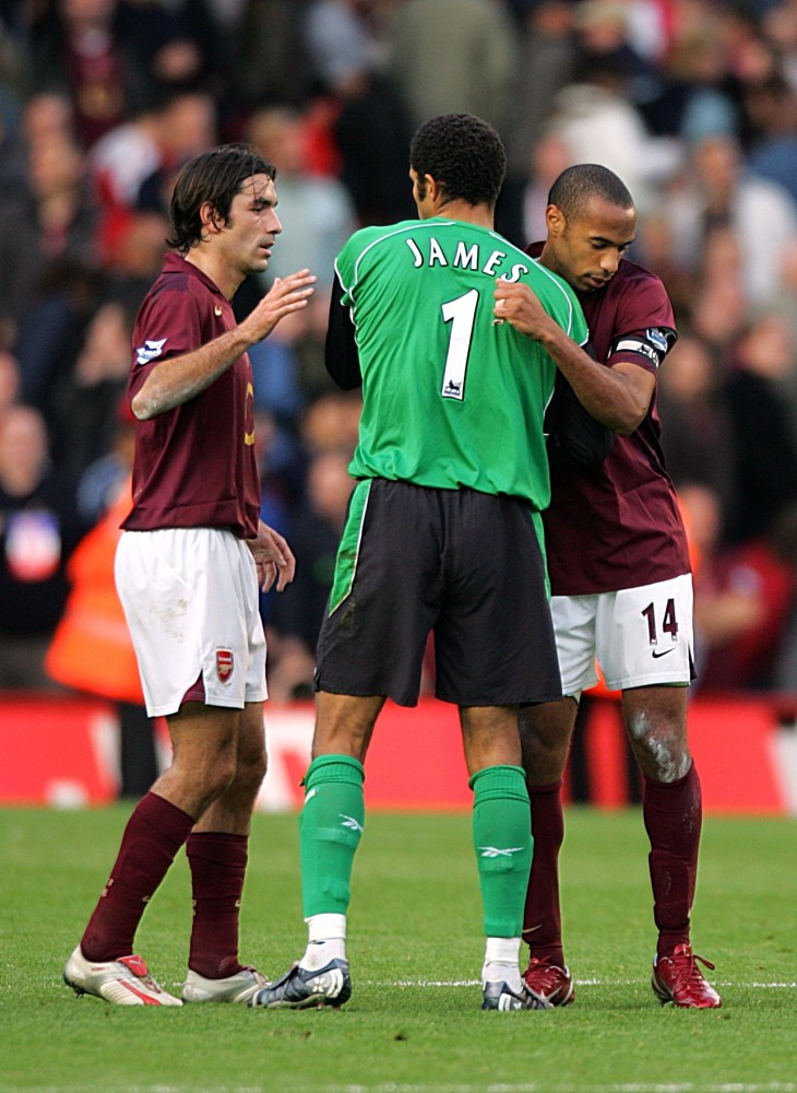 Thierry Henry, right, and Robert Pires, left