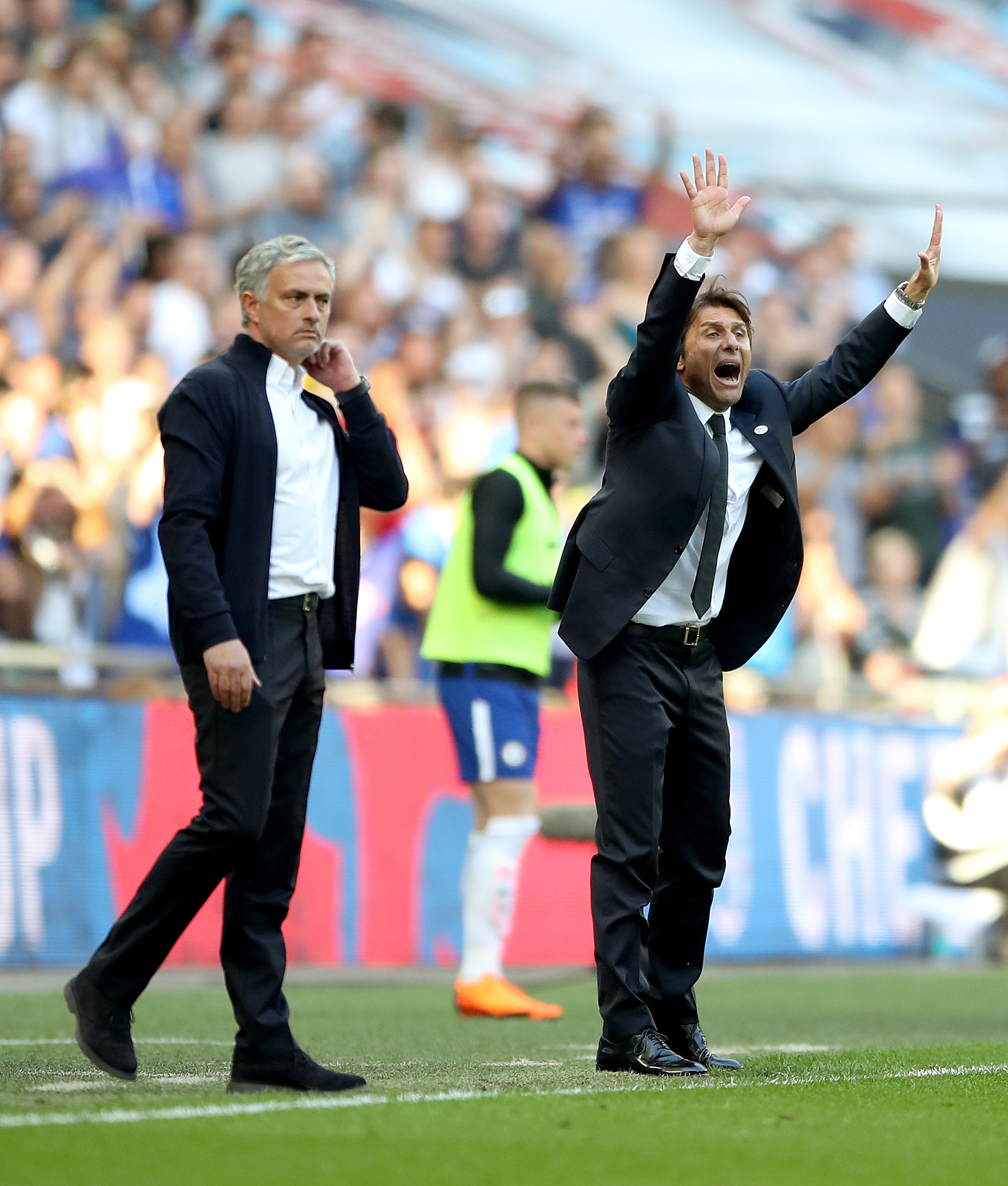 Mourinho and Conte had a fractious relationship when both were managing in the Premier League