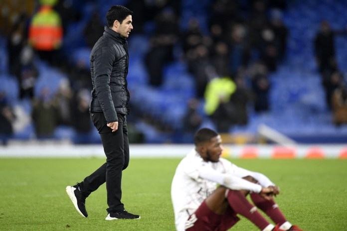 Defeat at Everton last weekend continued a seven-game winless run in the league for Mikel Arteta and his players.