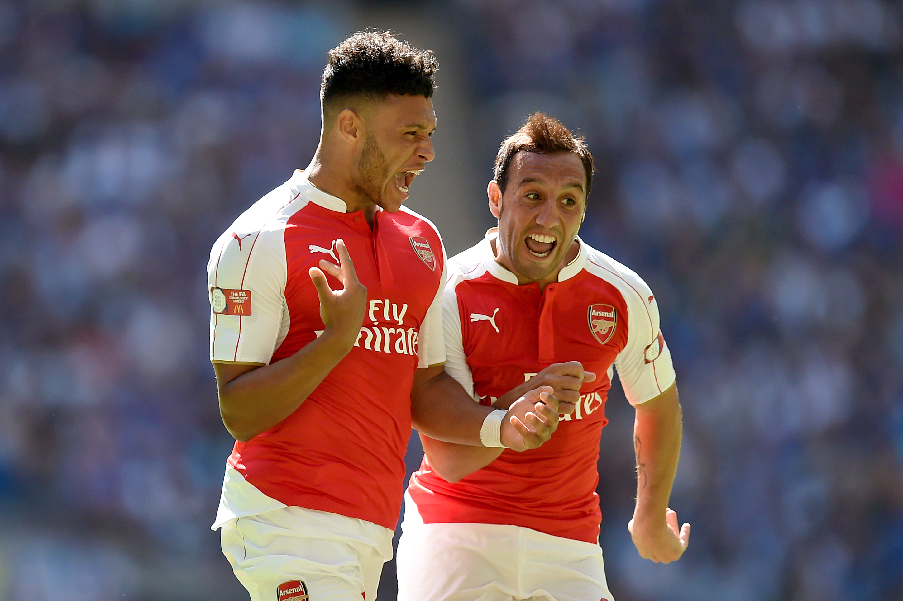 Alex Oxlade-Chamberlain scored the only goal as Arsenal beat Chelsea in the 2015 Community Shield.