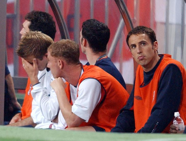 Gareth Southgate, right, was a team-mate of Wayne Bridge at the 2002 World Cup in Japan and South Korea