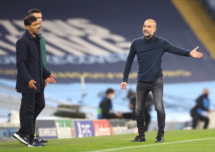 The first game between City and Porto saw words exchanged between Guardiola and opposite number Sergio Conceicao
