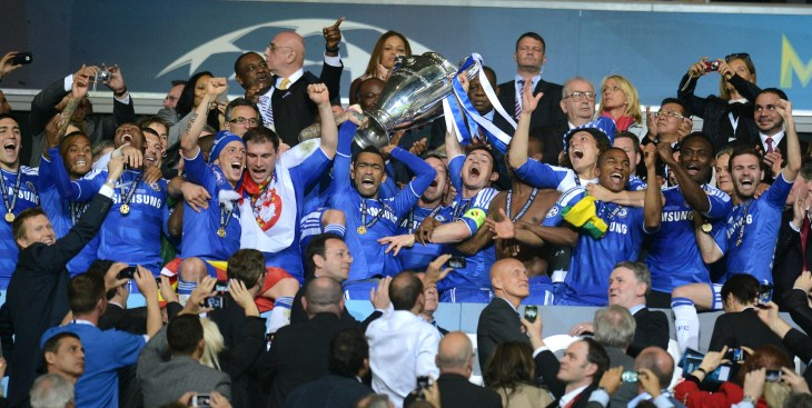 Champions League glory did follow after Chelsea beat Bayern Munich on penalties in the 2012 final (PA)