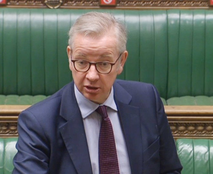 Cabinet Office minister Michael Gove has said the restrictions could be extended
