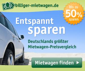 Mietwagen vergleichen auf Deutschlands größtem Mietwagen-Preisvergleich