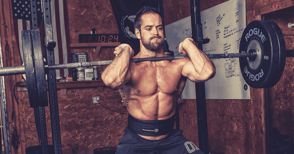 rich froning performs dead stop exercises with barbell