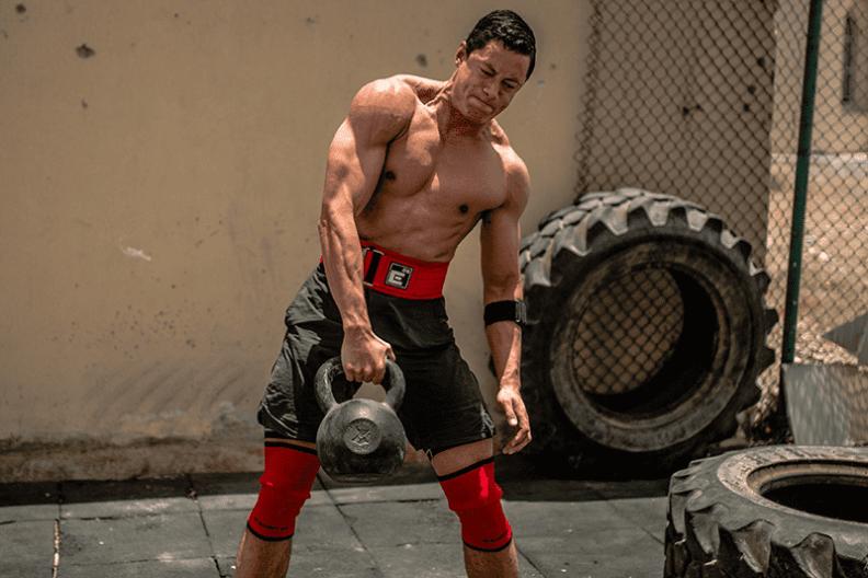 Kettlebell weightlifting belt