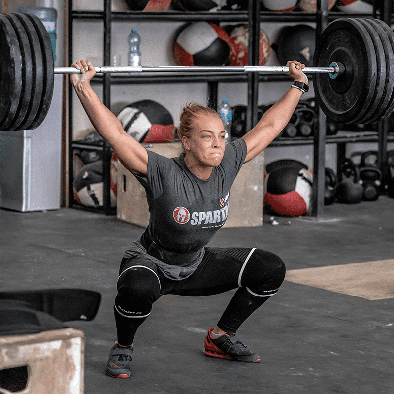 Snatch with Knee Sleeves
