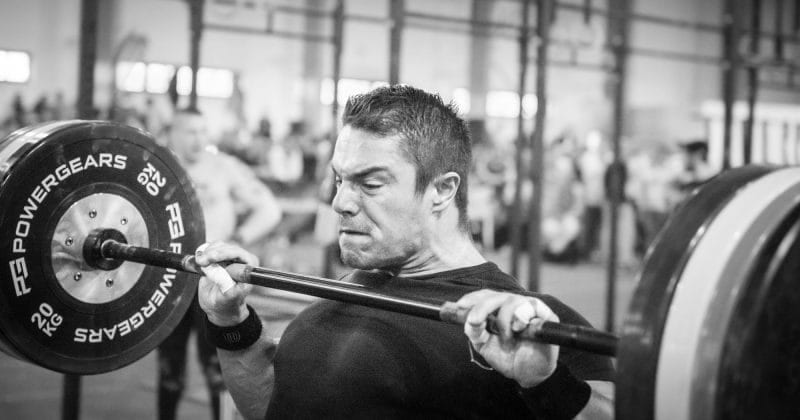 CrossFit Athlete Clean exercise