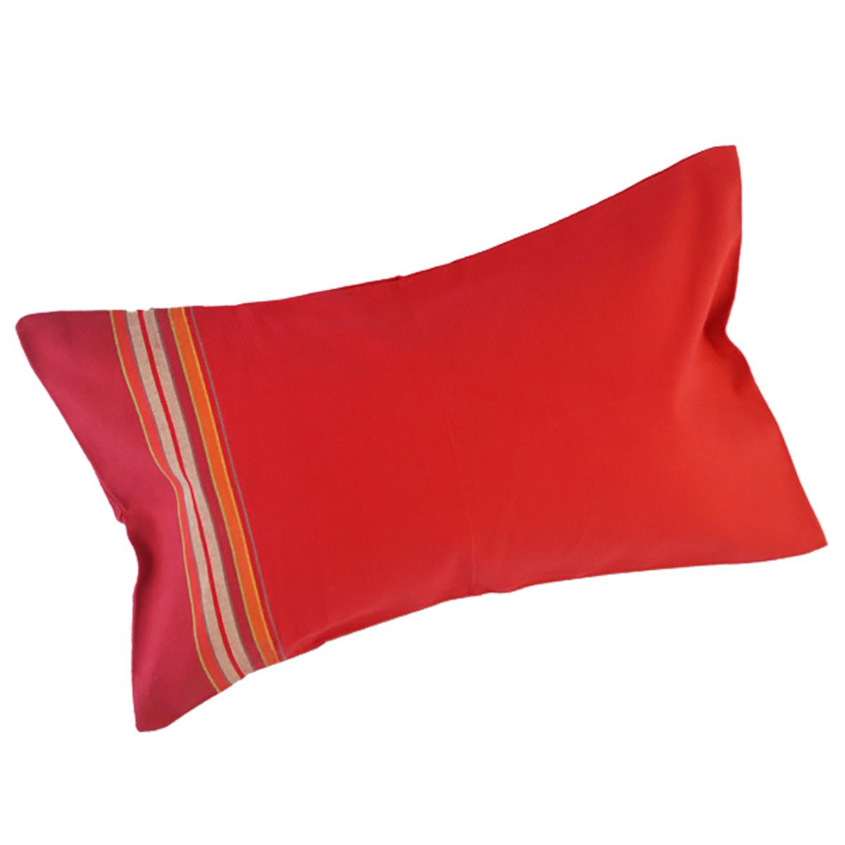 coussin de plage dehoussable rouge et fuchsia relax rio grande