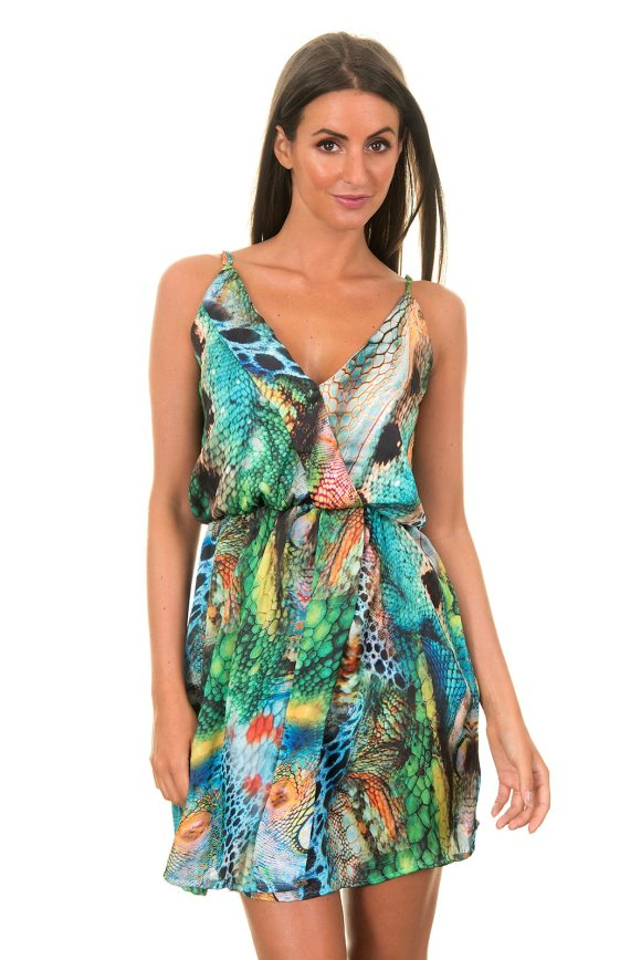 Blue Man Flowing Loose-fitting Beach Dress With Straps ...