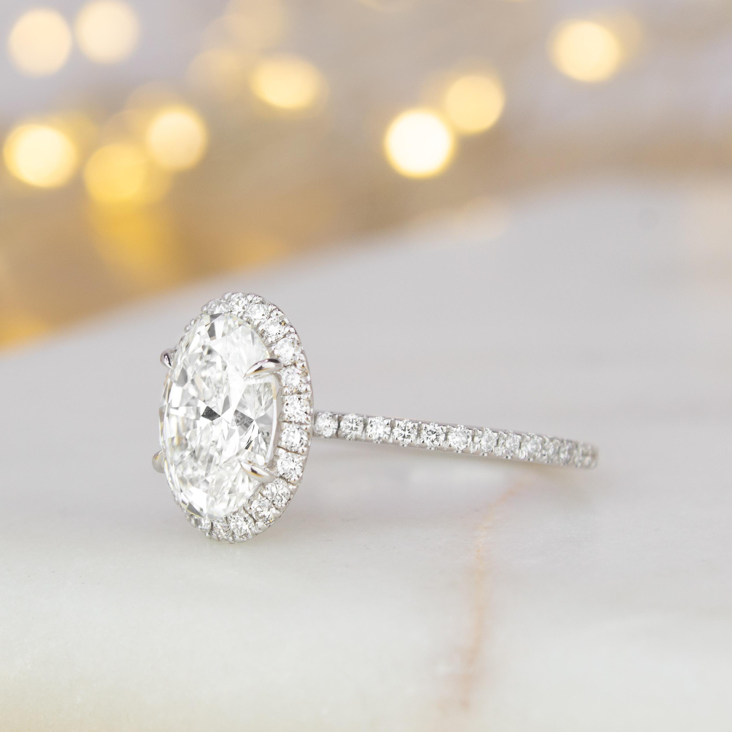 Sparkling Pav Engagement Rings Brilliant Earth